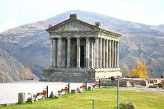 El templo de Garni es edificio colonnaded grecorromano cerca de Ereván, Armenia Imagen de archivo libre de regalías