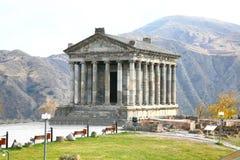 El templo de Garni es edificio colonnaded grecorromano cerca de Ereván, Armenia Foto de archivo libre de regalías