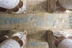 El templo de Hathor en Dendera Imagen de archivo libre de regalías