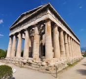 El templo de Hephaestus Imágenes de archivo libres de regalías