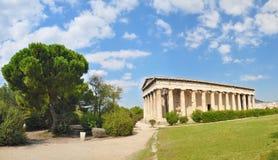 El templo de Hephaestus Imagen de archivo libre de regalías