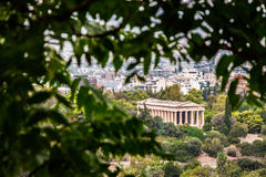 El templo de Hephaestus, Atenas, Grecia Foto de archivo libre de regalías