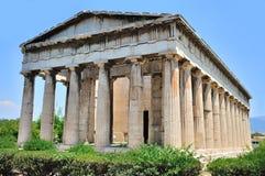 El templo de Hephaestus en Atenas Imágenes de archivo libres de regalías
