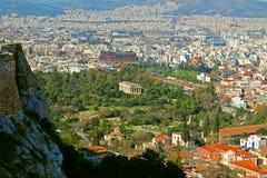 El templo de Hephaestus o de Hephaisteion en Atenas, Grecia Foto de archivo libre de regalías