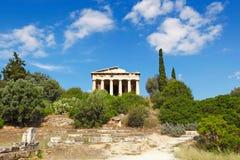 El templo de Hephaistos (Theseion), Grecia Foto de archivo