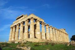 El templo de Hera, en Selinunte Foto de archivo libre de regalías