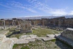 El templo de Júpiter en Baalbek Imagenes de archivo