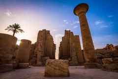 El templo de Karnak en Luxor fotografía de archivo