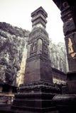 El templo de la cueva de Kailash o de Kailasanatha en Ellora excava La India Foto de archivo libre de regalías