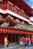 El templo de la reliquia del diente de Buda en el ` s Chinatown de Singapur Imagen de archivo