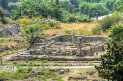 El templo de los obeliscos Foto de archivo