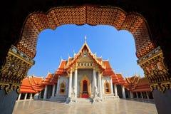 El templo de mármol, Bangkok, Tailandia Imagen de archivo libre de regalías