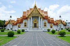 El templo de mármol en Tailandia Imágenes de archivo libres de regalías