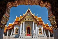 El templo de mármol, Wat Benchamabopitr Dusitvanaram Bangkok TAILANDIA Foto de archivo libre de regalías