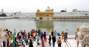 El templo de oro, Amritsar, Punjab, la India Fotografía de archivo