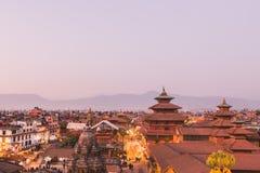 El templo de Patan, cuadrado de Patan Durbar se sitúa en el centro de Lalitpur, Nepal Es uno de los tres cuadrados de Durbar en fotos de archivo libres de regalías