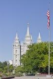 El templo de Salt Lake Imágenes de archivo libres de regalías