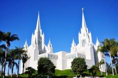 El templo de San Diego del mormón Imagen de archivo libre de regalías