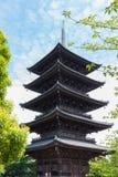 El templo de Toji es un templo budista de la secta del Shingon en Kyoto, Jap?n imagen de archivo libre de regalías