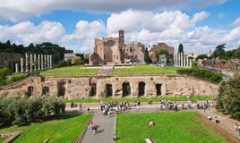El templo de Venus y de Roma en Roma Fotografía de archivo libre de regalías
