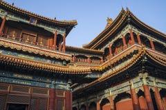 El templo de Yonghe AKA Lama Temple en China Imagen de archivo