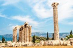 El templo de Zeus olímpico Imágenes de archivo libres de regalías