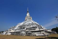 El templo del blanco de la correa de Phu Khao Foto de archivo libre de regalías