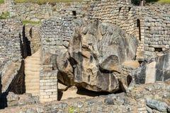 El templo del cóndor Machu Picchu arruina el PE peruano de los Andes Cuzco Fotografía de archivo