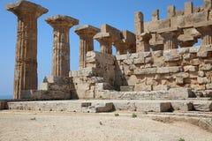 El templo del templo E de Hera en Selinunte Imagenes de archivo