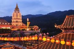 El templo del Si del lok de Kek se enciende para arriba Imágenes de archivo libres de regalías