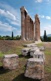 El templo del Zeus, Atenas Fotos de archivo