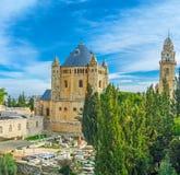 El templo en el monte Sion Imagen de archivo libre de regalías