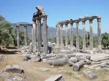 El templo en Euromos, Turquía Imagenes de archivo