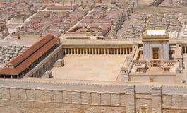 El templo en Jerusalén o templo santo Imágenes de archivo libres de regalías
