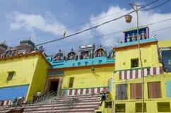 El templo en la ciudad de Varanasi de la India Imagen de archivo