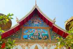 El templo en Laos Fotografía de archivo