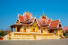 El templo en Laos Imagen de archivo
