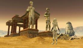 El templo encendido estropea ilustración del vector