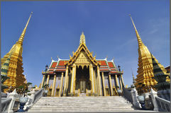 El templo esmeralda de Buddha, Bangkok Foto de archivo libre de regalías