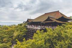 El templo famoso de Kiyomizu-dera fotografía de archivo