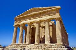 Templo de Concordia, Agrigento Imagen de archivo libre de regalías