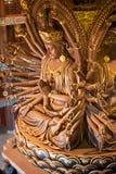 El templo, la diosa budista Guanyin Buddha sculpt Foto de archivo