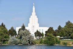 El templo mormón en Idaho cae en Idaho Imágenes de archivo libres de regalías