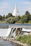 El templo mormón en Idaho cae en Idaho Foto de archivo libre de regalías