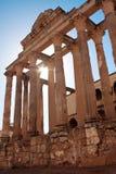 El templo romano de Diana en Mérida, España Imagenes de archivo