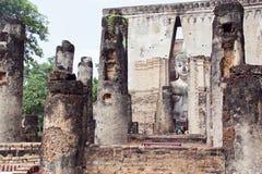 El templo viejo en Sukhothai Tailandia Foto de archivo