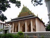El templo viejo Wat Chaloem Phrakiat Nonthaburi Thailand Fotografía de archivo