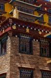 El templo y la esquina cercanos de Muli tiraron en Sichuan de China Imagen de archivo libre de regalías