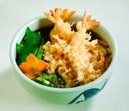 El Tempura ramen el alimento japonés Fotos de archivo