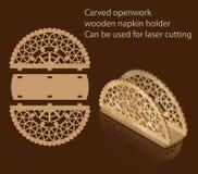El tenedor de madera a cielo abierto tallado de la servilleta, se puede utilizar para el corte del laser libre illustration